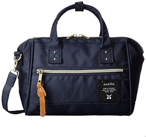 Japan Anello MINI SMALL NAVY 2 Way Unisex Shoulder Bag Poly Canvas Waterproof