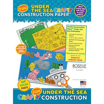 [PAC02806 - Roselle Paper Co Crafty Printed Construction Paper] (Crafty Printed Construction Paper)