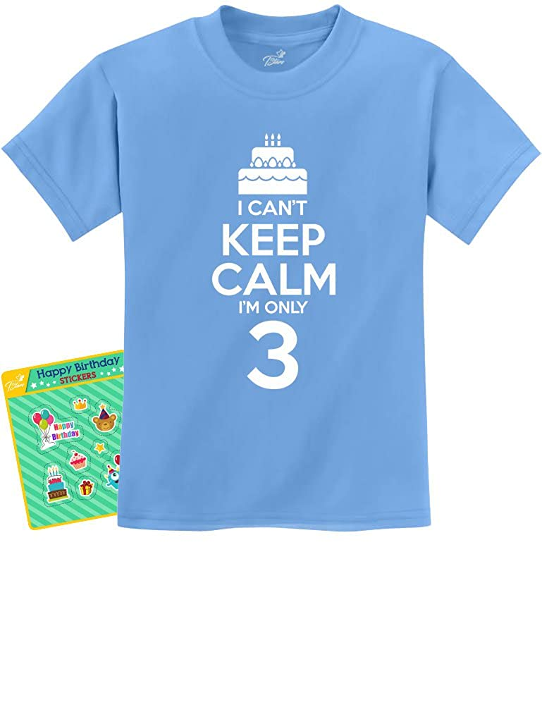 3rd Birthday Cake - I Can't Keep Calm I'm 3 Three Children Funny Kids T-Shirt G0PMMPhgm