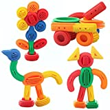 General plastic toy baby birthday gift soft geometry Irregular shape DIY building block educational blocks