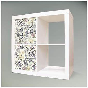 Decorativo para muebles para ikea expedit kallax estanter a 32 6 x 67 8 cm con dise o florale - Papel decorativo para muebles ...