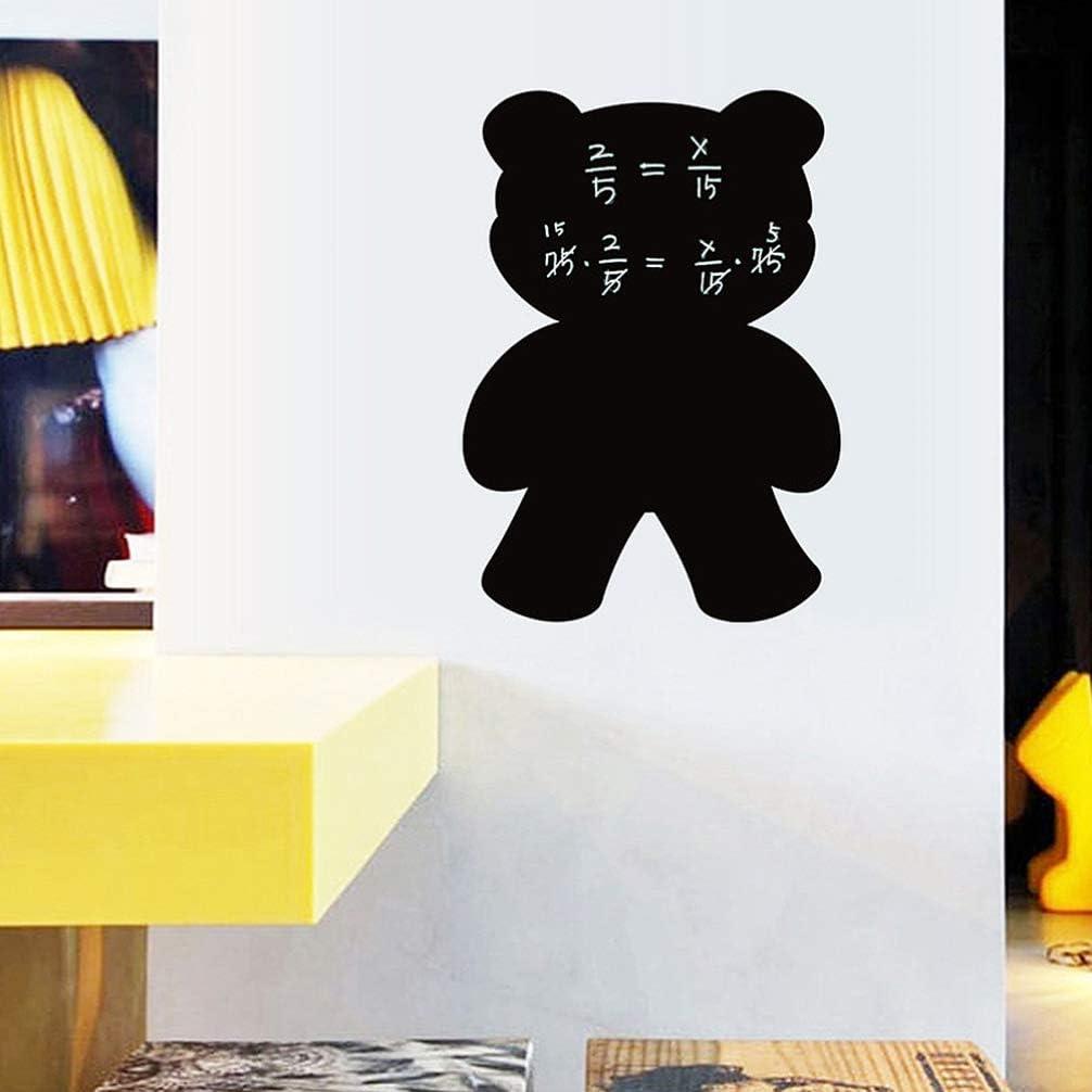 adhesivo de pizarra autoadhesivo de bricolaje LIOOBO adhesivo de pared negro adhesivo de pizarra extra/íble tablero de mensajes adhesivo de refrigerador adhesivo de pared de pizarra
