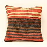 Turkish kilim pillow cover 18x18 Ethnic pillow Chair pillow Accent Pillow Throw pillow Bolster Pillow Sofa Decor home&kitchen sofa pillow covers decorative pillow home decor boho pillow vintage pillow