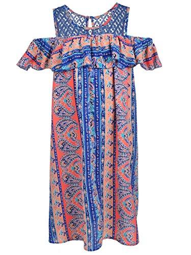 s' Plus Size Cold Shoulder Dress - Blue, 16.5 ()