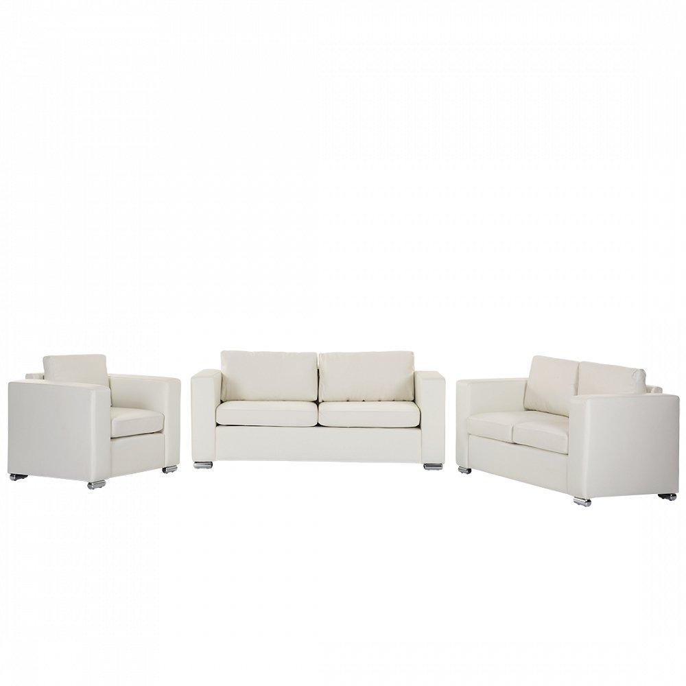 Sofa / Couch Beige - Ledersofa / Ledercouch Helsinki günstig kaufen