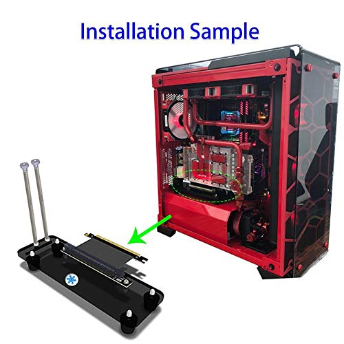 FidgetFidget PCI-E3.0 16X Graphics Card Vertical Stand Holder Bracket + Cable for ATX Chassis