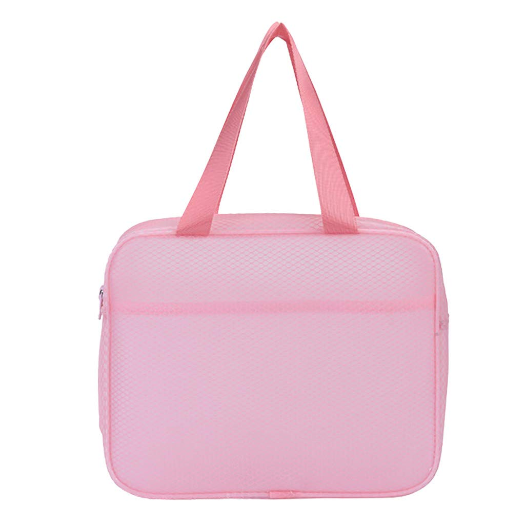 Makeupstory Beach Bags for Women,Purses Crossbody,Men's and Women's Rule Travel Bags,Wash Bags, Dry and Wet Bags, Separate Bags Pink by Makeupstory (Image #2)