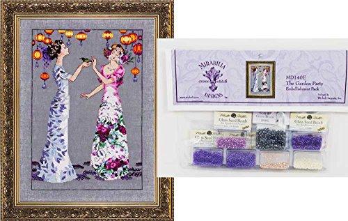 Mirabilia Cross Stitch Chart with Embellishment Pack ~ THE GARDEN PARTY #140 (Cross Chart Stitch Garden)