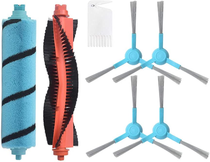 QQW Brosse Latérale Filtre Hepa pour Cecotec Conga 3490 4090 Robot Aspirateur Accessoires Rouleau Brosse De Nettoyage Vadrouille Pad Peigne en Tissu-14 14