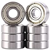 608zz bearing - Pack of 8 Skateboard Bearings 608ZZ 8x22x7mm, Double Shielded and No grease. Fast smooth silent and Long life, The same fit Longboard, Inline Skates, Scooters etc.