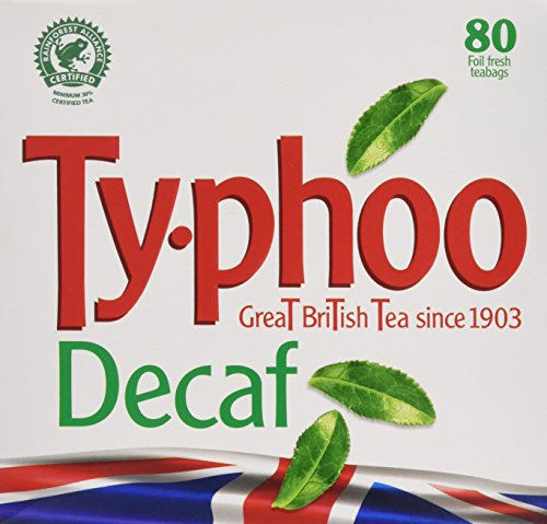 Typhoo Decaf Tea 80 Tea Bags (Pack of 6, Total 480 Teabags)