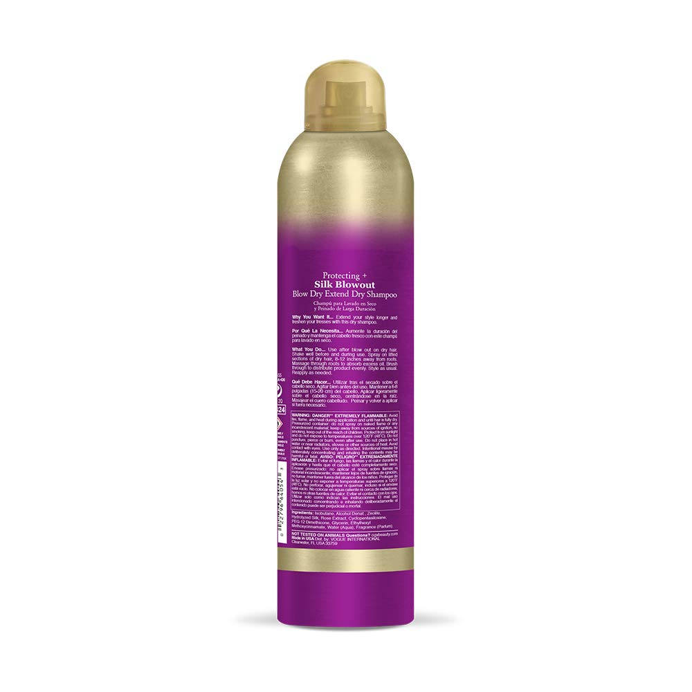 OGX Protecting + Silk Blowout Quick Drying Thermal Spray, 6 Ounce (64052): Beauty