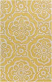 Surya Kate Spain Alhambra ALH-5005 Hand Tufted 100-Percent New Zealand Wool Floral and Paisley Area Rug, 8-Feet by 11-Feet