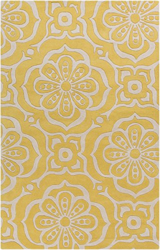 Surya Kate Spain Alhambra ALH-5005 Hand Tufted 100-Percent New Zealand Wool Floral and Paisley Area Rug, 8-Feet by 11-Feet by Surya