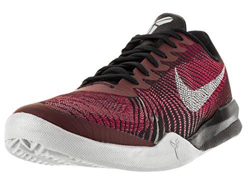 Nike Hommes Kb Mentality Ii Basket Chaussure Noir Métallisé Argent Université Rouge 002