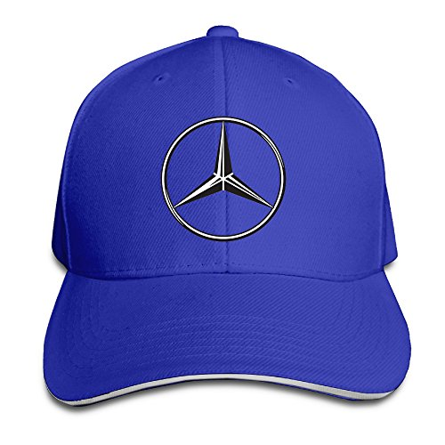 AmFUN Mercedes-Benz Logo Adjustable Snapback Peaked Cap Baseball Hats