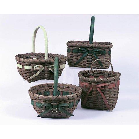 Bulk Buy: Darice DIY Crafts Rattan Basket 4 Assorted Styles 3 Assorted Colors (24-Pack) 2816-50