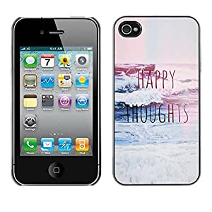 Plastic Shell Protective Case Cover || Apple iPhone 4 / 4S || Blue Waves Surf Inspirational @XPTECH