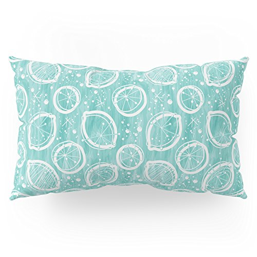 Society6 Atomic Lemonade_Cerulean And White Pillow Sham King (20'' x 36'') Set of 2 by Society6