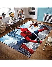 PHUAN Cartoon Kids Tapijt Spiderman 3D Gedrukt Tapijten Voor Woonkamer Slaapkamer Vloermat Kinderkamer Speelmat Groot Gebied Tapijten (Kleur: 02, Maat: 120 * 200cm)