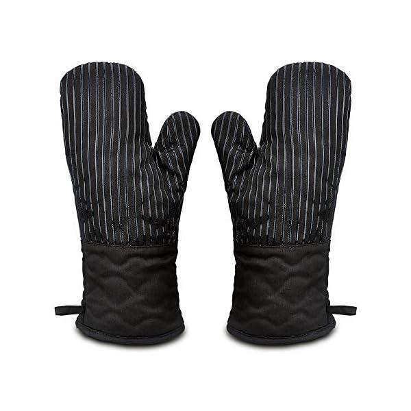 Guanto da Forno Antiscivolo Guanti da Cucina Silicone Doppio,Oven Gloves Professionali Resistenza al Calore Extra Lungo… 1 spesavip