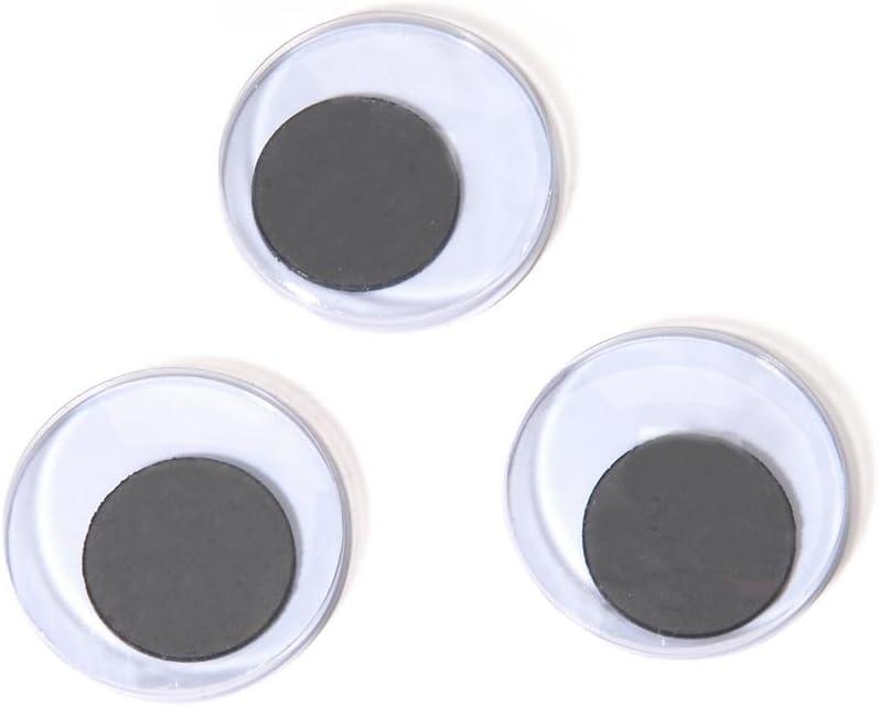 Darice Paste-On Wiggle Eyes 25mm 34/Pkg, Black
