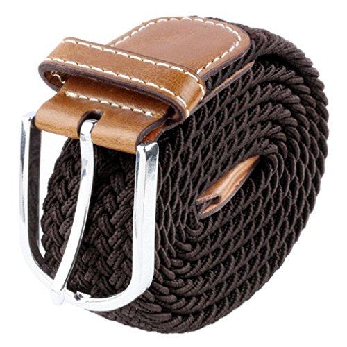 Samtree Elastic Braided Belts for Men Women,PU Leather Fashion Web Belt(40