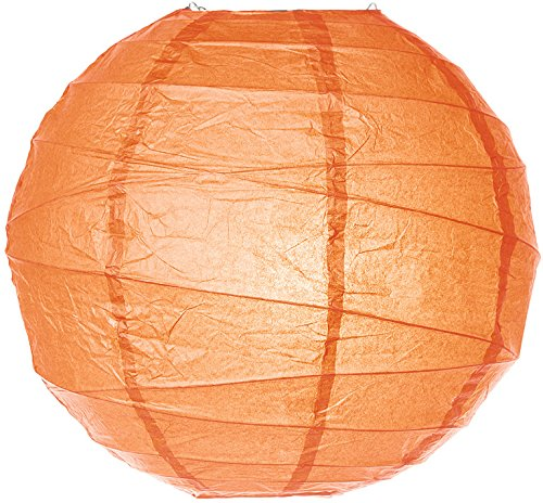 Luna-Bazaar-Premium-Paper-Lantern-Clip-On-Lamp-Shade-18-Inch-Free-Style-Ribbed-Orange-ChineseJapanese-Hanging-Decoration-For-Parties-Weddings-and-Homes