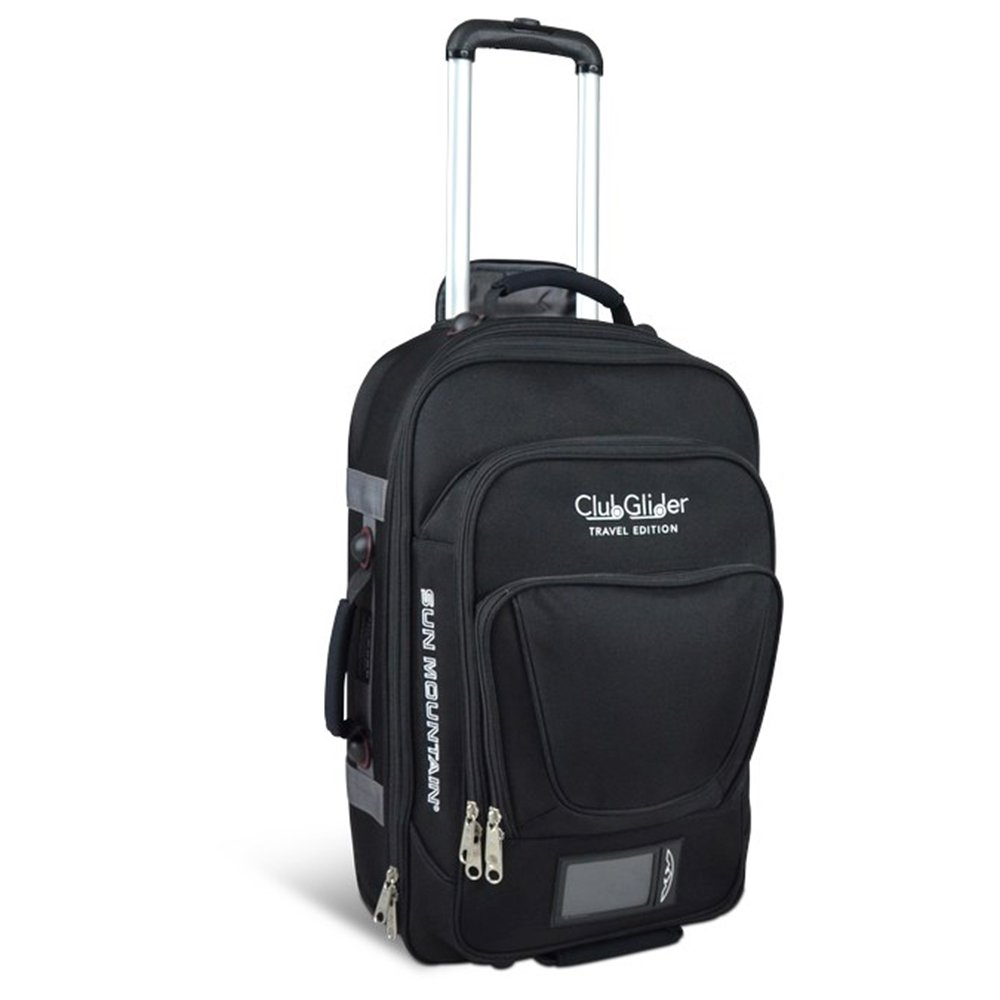 Image of Sun Mountain CLUBGLIDER Travel Edition Suitcase/Luggage - Black - New 2018 Luggage