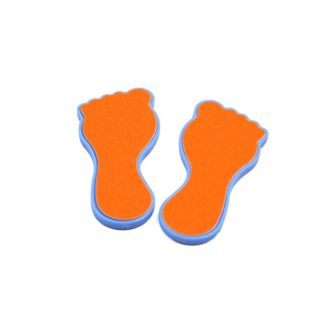 Amazon.com: eDealMax 2 PC portátil de la piel SECA cuidado de Los pies de pedicura Callos de maíz removedor Depurador del archivo de la escofina Naranja ...
