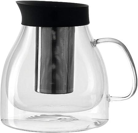 Klassische Glas Kaffeebereiter Kaffeekanne Teekanne mit Stahlfilter 200mL