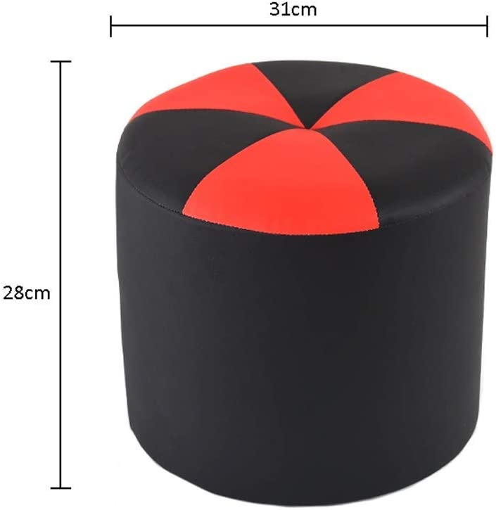 Small Stool Fashion Round Stool Home Small Bench Creative Leather Stool Sofa Stool Sofa Stool Adult Soft Stool Low Stool Solid Wood Pier Sofa Tool (kleur: D) P P
