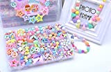 Magnolian Handmade Jewelry Beads Toys for Children, 580 Pieces