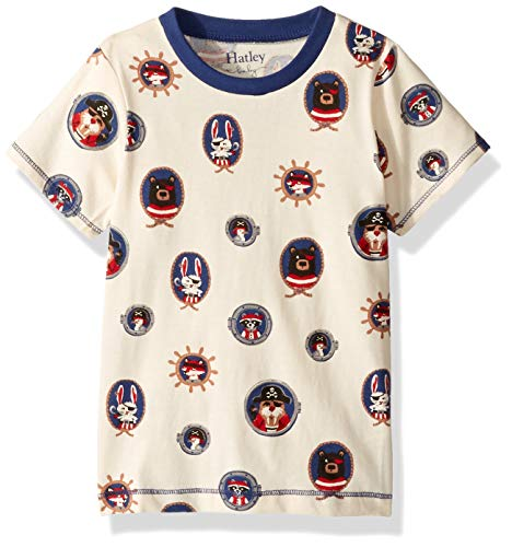 (Hatley Boys' Toddler Graphic Tee, Pirate Portraits 4 Years)