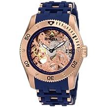 Invicta Men's Sea Spider Mechanical Skeleton Dial Blue Polyurethane Watch INVICTA-1258