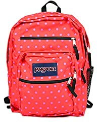 Big Student Backpack (One Size, Coral Dusk Dots)