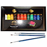 Watercolor Paint Set by Crafts 4 All 12 Premium Quality Art Watercolors Painting Kit for Artists, Students & Beginners - Perfect for Landscape and Portrait Paintings on Canvas