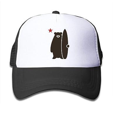cvbnch Gorras de béisbol Hombre/Mujer,California Surf Bear ...