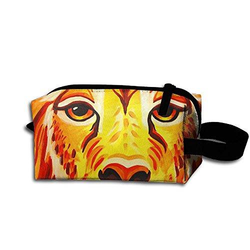 Makeup Cosmetic Bag Lion Face Paint Detail Zip Travel Portable Storage Pouch For Mens Womens ()