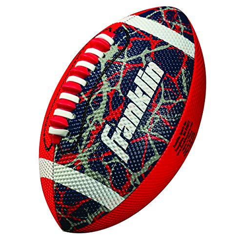 Franklin Sports Mini Football - Tacky Grip Cover - Easy Throw Spiral Lace System - Little Kids Indoor/Outdoor Football - Red/Navy