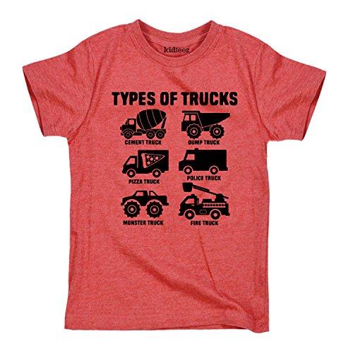 Types of Trucks - CUTE TODDLER SHORT SLEEVE TEE - 3T