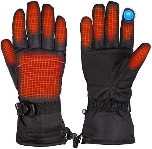 BAOTWO Verwarmde handschoenen, verwarmde handschoenen voor mannen en vrouwen, elektrische verwarmingshandschoenen…
