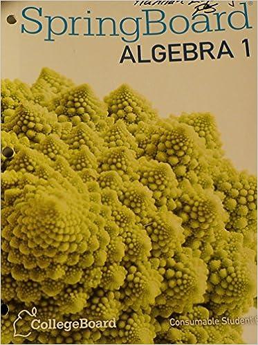 springboard algebra 1unit 4 answers