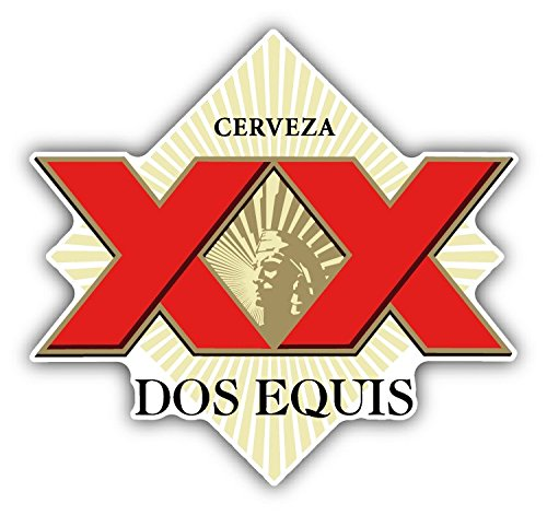 Dos Equis Cerveza Mexican Beer Drink Car Bumper Sticker Decal 13