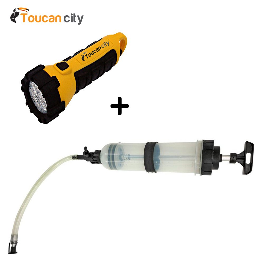 Lumax Fluid Extractor/Dispenser, 50 oz. (1.5L) Capacity LX-1389 and Toucan City LED flashlight