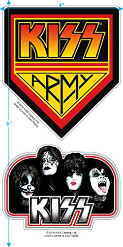 KISS Rock Gene Simmons Band Members Stage T Shirt & Exlcusive Stickers (Medium) by Popfunk (Image #3)