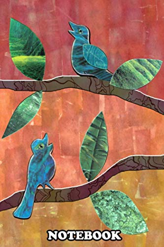 Notebook: Singing Birds Collage , Journal for Writing, College Ruled Size 6