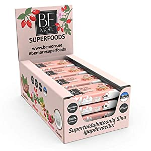 Be More Premium Superfood Raw Bars – 16 pc &...