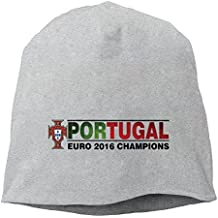 Adult Euro Cup 2016 Champion Portugal Unique Skull Beanie Hat Black
