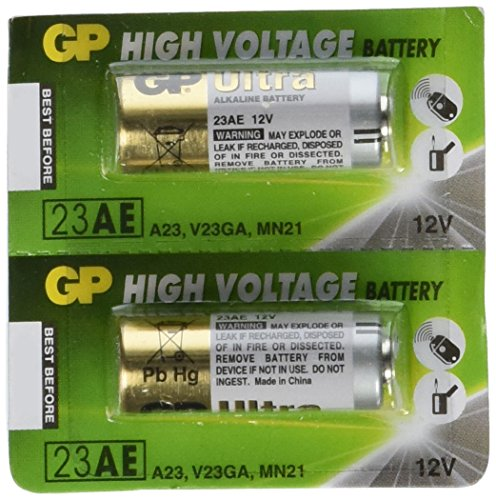 Price comparison product image GP 12V Alkaline Batteries - Size 23A - 2-Pack